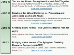 Elder Justice Summit Webinar Series