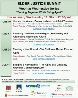 Elder Justice Summit Webinar Series