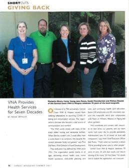 vna provides health services for seven decades